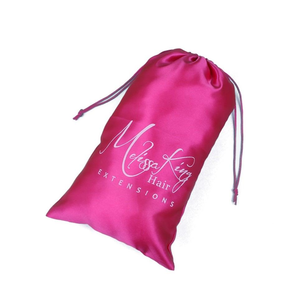 Custom Satin Bags For Hair Extensions 100 PCS