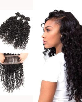 3 Bundles Of Brazilian Hair With 360 Frontal